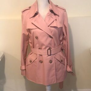 Coach pink trench coat (Brand New)